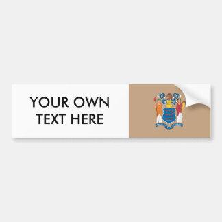 NEW JERSEY Flag Pattern Bumper Stickers