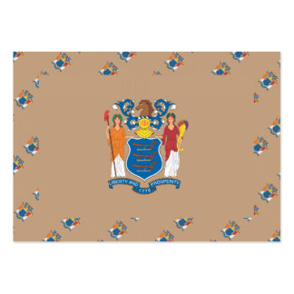 NEW JERSEY Flag Pattern Large Business Cards (Pack Of 100)