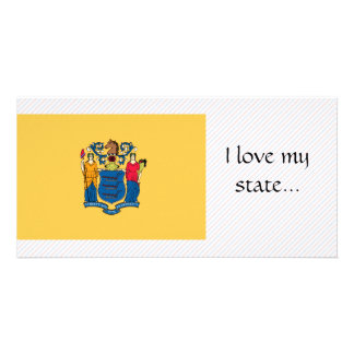 New Jersey Flag Photo Greeting Card