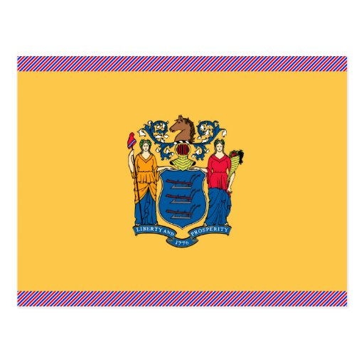 New Jersey Flag Post Cards