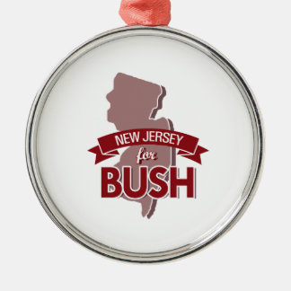 NEW JERSEY FOR BUSH -.png Christmas Tree Ornaments