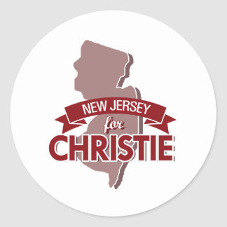 NEW JERSEY FOR CHRISTIE -.png Classic Round Sticker