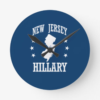 NEW JERSEY FOR HILLARY ROUND CLOCK