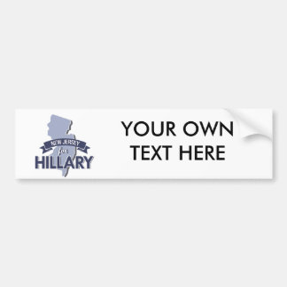 NEW JERSEY FOR HILLARY -.png Bumper Sticker