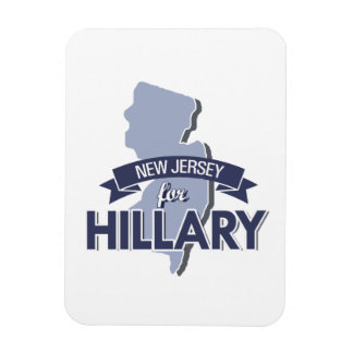 NEW JERSEY FOR HILLARY RECTANGLE MAGNET