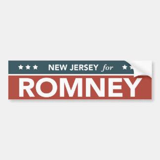 New Jersey For Mitt Romney Ryan Bumper Sticker Car Bumper Sticker