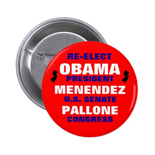New Jersey for Obama Menendez Pallone 2 Inch Round Button