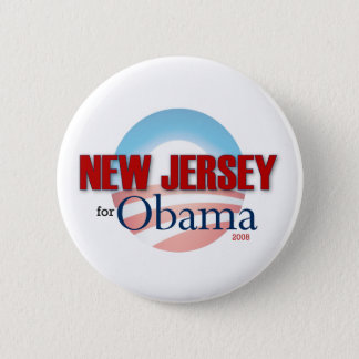 NEW JERSEY for Obama Pinback Button