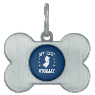 NEW JERSEY FOR O'MALLEY PET NAME TAGS