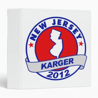 New Jersey Fred Karger 3 Ring Binder