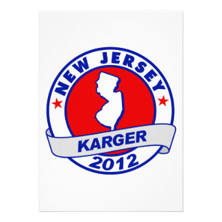 New Jersey Fred Karger Custom Announcements