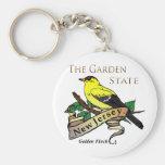 New Jersey Garden State Golden Finch Basic Round Button Keychain