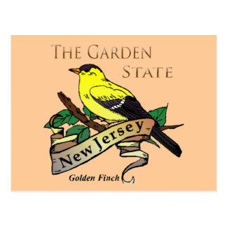New Jersey Garden State Golden Finch Postcard