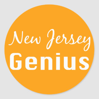 New Jersey Genius Gifts Classic Round Sticker