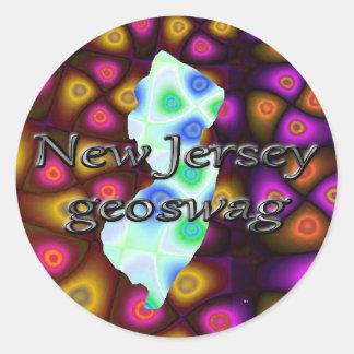 New Jersey Geocaching suministra a los pegatinas Etiquetas Redondas