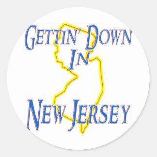 New Jersey - Gettin' Down Classic Round Sticker
