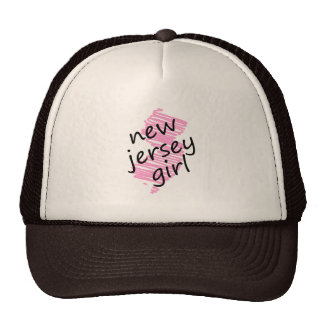 New Jersey Girl with Scribbled New Jersey Map Trucker Hat