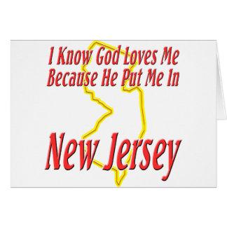 New Jersey - God Loves Me Card