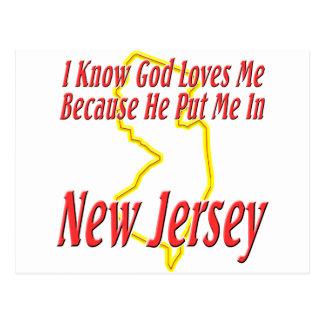 New Jersey - God Loves Me Postcard