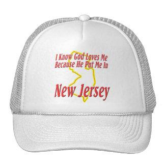 New Jersey - God Loves Me Trucker Hat
