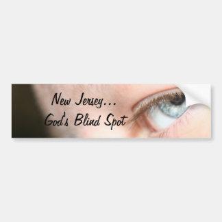 New Jersey...God's Blind Spot Bumper Sticker