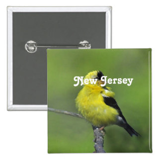 New Jersey Goldfinch 2 Inch Square Button
