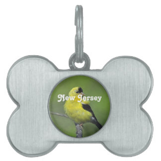New Jersey Goldfinch Pet Tag