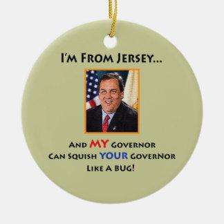 New Jersey Gov. Chris Christie Ornament