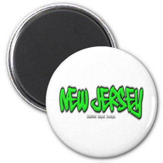 New Jersey Graffiti 2 Inch Round Magnet