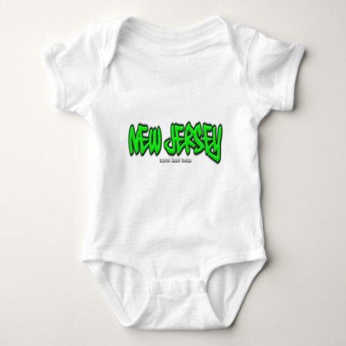 New Jersey Graffiti Baby Bodysuit