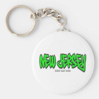 New Jersey Graffiti Keychain