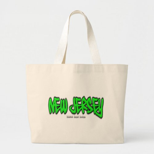 New Jersey Graffiti Large Tote Bag