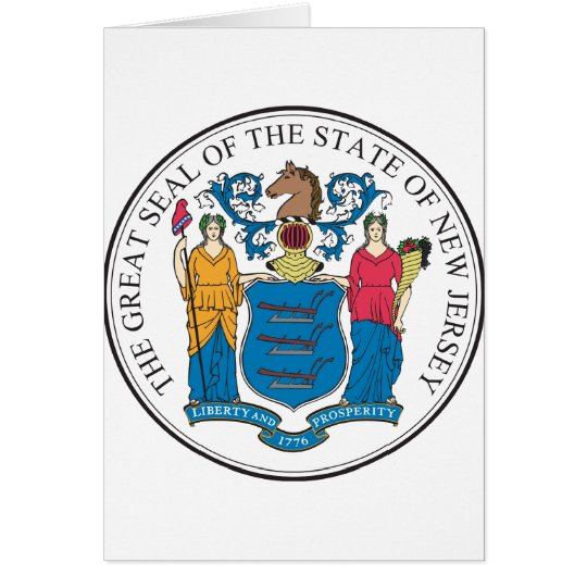 New Jersey - Great Seal Card
