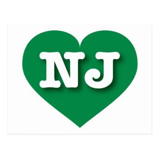 New Jersey Green Heart - Big Love Postcard