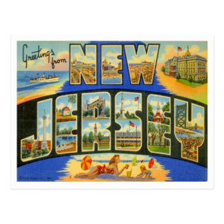 New Jersey Greetings From US States Postcard