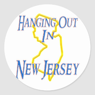 New Jersey - Hanging Out Classic Round Sticker