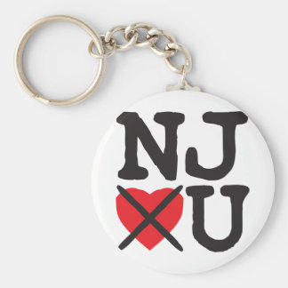 New Jersey Hates You Key Chain