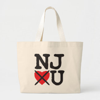 New Jersey Hates You Large Tote Bag