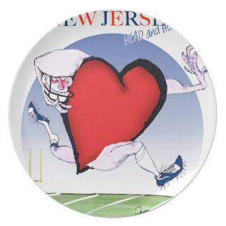 new jersey head heart, tony fernandes melamine plate