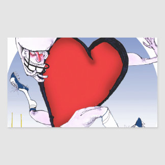 new jersey head heart, tony fernandes rectangular sticker