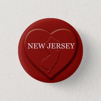 New Jersey Heart Map Design Button