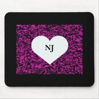 New Jersey Heart Mouse Pad