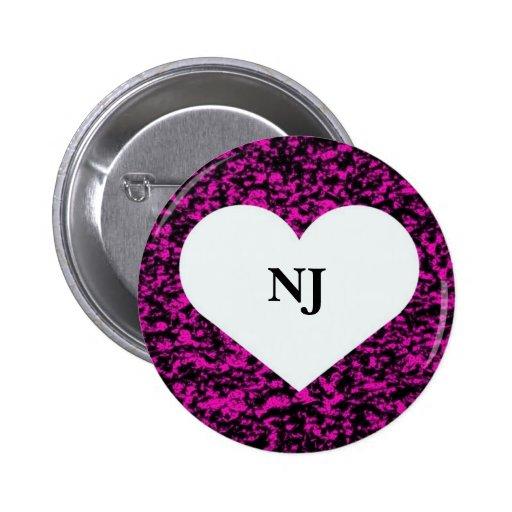 New Jersey Heart Pin