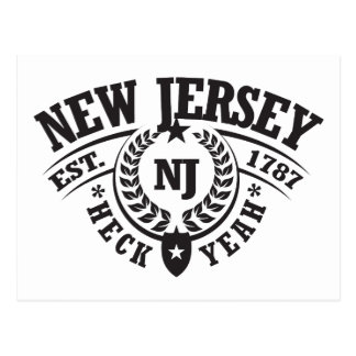 New Jersey, Heck Yeah, Est. 1787 Postcard