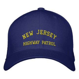 NEW JERSEY, HIGHWAY PATROL EMBROIDERED BASEBALL CAP