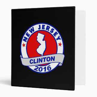 new jersey Hillary Clinton 2016.png 3 Ring Binders