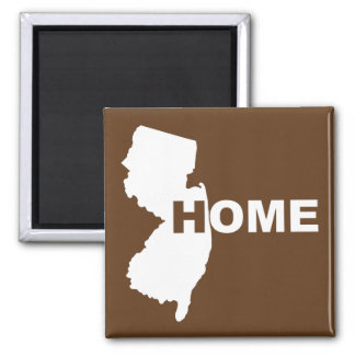 New Jersey Home Away From State Fridge Magnet