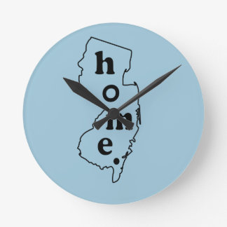 New Jersey Home Round Wall Clock