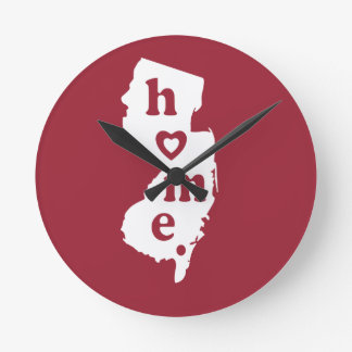 New Jersey Home Round Wall Clocks