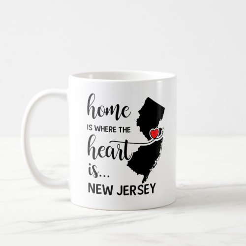 New Jersey home is where the heart is Coffee Mug